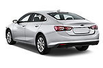 Car pictures of rear three quarter view of a 2019 Chevrolet Malibu LT 4 Door Sedan angular rear