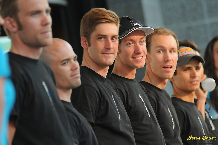 Team SpiderTech powered by C10 at the team presentation before the Larry H. Miller Tour of Utah. Aug. 6, 2012. Photo by Brian Hodes/VeloImages