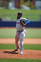 Midland RockHounds pitcher Jonathan Joseph (17) delivers a pitch during a game against the Tulsa Drillers on June 3, 2015 at Oneok Field in Tulsa, Oklahoma.  Midland defeated Tulsa 5-3.  (Mike Janes/Four Seam Images)