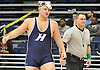 Mike Curiel of Hewlett reacts after pinning Jimal Viaud of Valley Stream North at 285 pounds in the Nassau County Division 1 wrestling quarterfinals at Hofstra University on Saturday, Feb. 13, 2016.