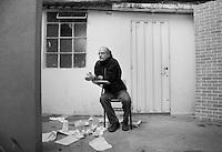 Juan Carlos Rulfo director of the documentary De Panzaso, a critique of Mexico's education system.  Colonia Narvarte, Mexico DF..