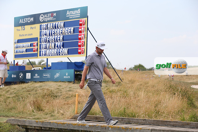 Bernd Wiesberger (AUT) is on the leaderboard during Round Three of the 2015 Alstom Open de France, played at Le Golf National, Saint-Quentin-En-Yvelines, Paris, France. /04/07/2015/. Picture: Golffile | David Lloyd<br /> <br /> All photos usage must carry mandatory copyright credit (&copy; Golffile | David Lloyd)