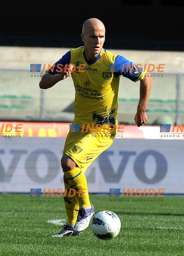 """Michael BRADLEY (Chievo Verona).Verona 16/10/2011 Stadio """"Marcantonio Bentegodi"""".Serie A 2011/2012.Football Calcio Chievo Verona Vs Juventus.Foto Insidefoto Alessandro Sabattini."""