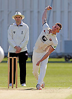 Harry Podmore bowls for Kent during the friendly game between Kent CCC and Surrey at the St Lawrence Ground, Canterbury, on Thursday Apr 5, 2018