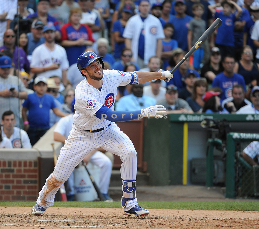 Chicago Cubs Kris Bryant (17) during a game against the San Francisco Giants on September 4, 2016 at Wrigley Field in Chicago, IL. The Cubs beat the Giants 3-2.