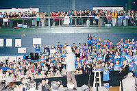 Former president Bill Clinton speaks before former Secretary of State and Democratic presidential candidate Hillary Rodham Clinton speaks at a rally at Nashua Community College in Nashua, New Hampshire, on Tues. Feb. 2, 2016. Former president Bill Clinton also spoke at the event. The day before, Hillary Clinton won the Iowa caucus by a small margin over Bernie Sanders.