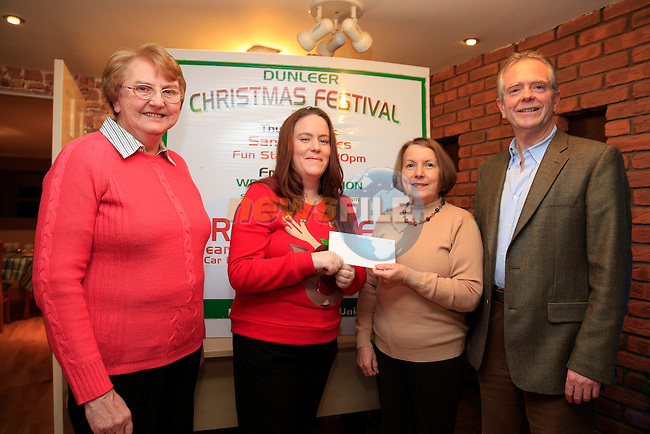 Mary Johnson Credit Union , Mary Rose Rafferty, Nancy Conaty credit union and Eugene Conlon at the launch of the Dunleer Christmas festival.<br /> Picture: Fran Caffrey www.newsfile.ie