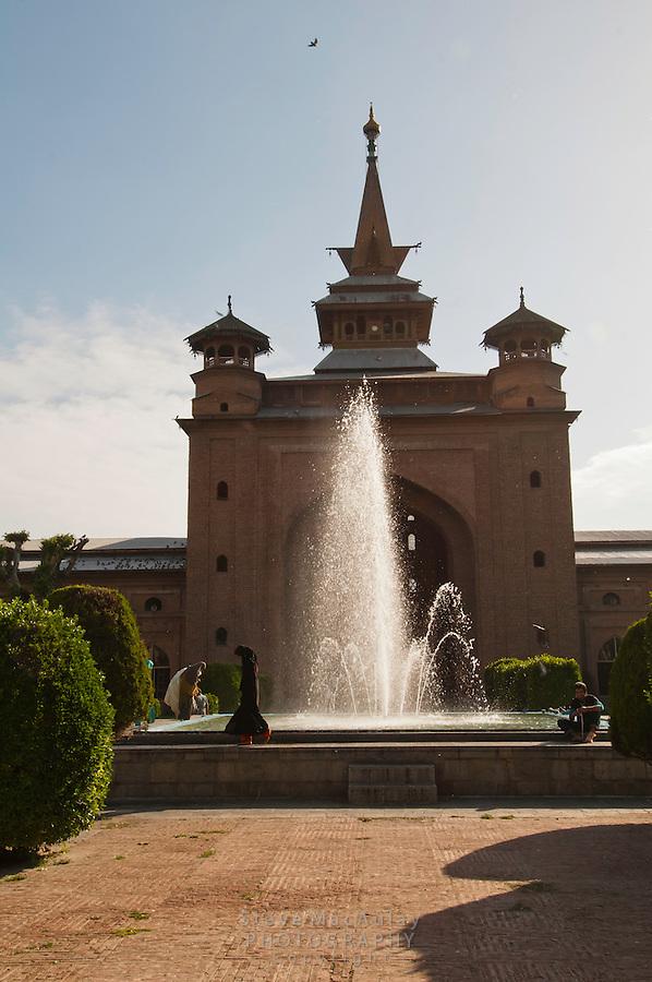Fountain at Jama Masjid Mosque, Srinagar, Kashmir, India.