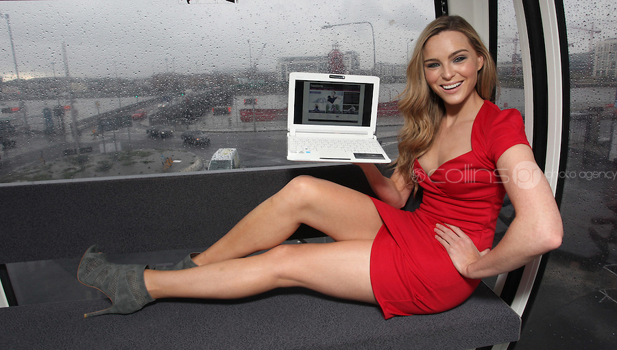23/08/2010 .Model Sarah Morrissey at the announcement that Irish department store, Heatons have launched their new online store www.heatonsstores.com at The Dublin Wheel at the O2, Dublin..Photo: Gareth Chaney Collins