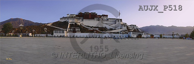 Dr. Xiong, LANDSCAPES, panoramic, photos, Town, China(AUJXP518,#L#)