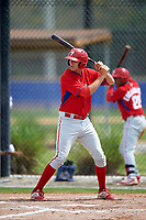 Philadelphia Phillies Brendon Hayden (43) during a minor league Spring Training game against the Toronto Blue Jays on March 26, 2016 at Englebert Complex in Dunedin, Florida.  (Mike Janes/Four Seam Images)