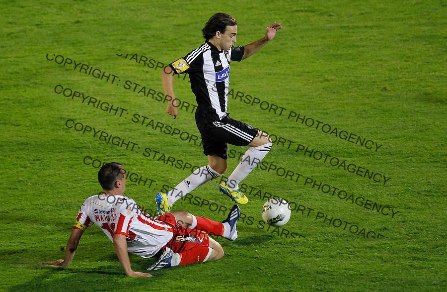 Fudbal Super liga season 2012-2013.Partizan v Crvena Zvezda .Lazar Markovic right and Nenad Milijas.Beograd, 05.18.2013..foto: Srdjan Stevanovic/Starsportphoto ©