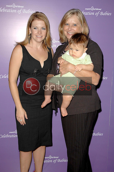 Melissa Joan Hart and son Braydon with Debbie Martin<br />