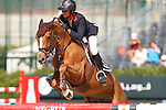 25.09.2015 Barcelon CSIO Barcelona . Picture show Penelope Leprevost (FRA) ridding SUltane Des Ibis during EL Peridodico Trophy at Real Club de Polo de Barcelona