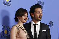 www.acepixs.com<br /> <br /> January 8 2017, LA<br /> <br /> Felicity Jones and Diego Luna appeared in the press room during the 74th Annual Golden Globe Awards at The Beverly Hilton Hotel on January 8, 2017 in Beverly Hills, California.<br /> <br /> By Line: Famous/ACE Pictures<br /> <br /> <br /> ACE Pictures Inc<br /> Tel: 6467670430<br /> Email: info@acepixs.com<br /> www.acepixs.com