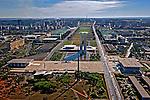 Aerea da Esplanada dos Ministerios, Praça dos tres poderes, Palacio do Planalto, Supremo Tribunal Federal, Congresso Nacional. Brasilia. Distrito Federal. 2010. Foto de Ubirajara Machado