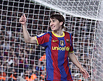 2010 Spanish La Liga FC Barcelona follow on top in Spanish Liga after beat 5 - 0 Real Sociedad at Camp Nou. Picture show Bojan