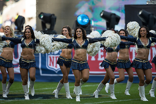 23.10.2016. Twickenham, London, England. NFL International Series. New York Giants versus LA Rams. LA Rams cheerleaders.