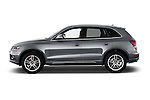 Car Driver side profile view of a 2017 Audi Q5 Premium 5 Door SUV Side View