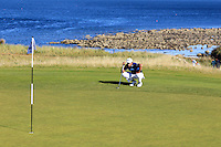 Pablo Larrazabal (ESP) on the 7th green at Kingsbarns during Round 1 of the 2015 Alfred Dunhill Links Championship at the Old Course St. Andrews in Scotland on 1/10/15.<br /> Picture: Thos Caffrey | Golffile