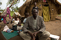 Dramile Alogoso Dratu in Nyori refugee camp, South Sudan..He fled Congo after the LRA killed his son David Koko. Koko was a 29 year old doctor in Fradje. Koko work had  won him the admiration of everyone who knew him. As a child he was sickly. this motivated him to become a doctor. Koko left behind a wife and  a new born child..
