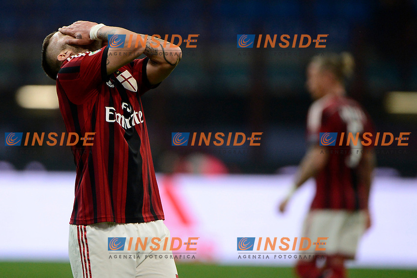 Delusione Jeremy Menez Milan<br /> Milano 12-04-2015 Stadio Giuseppe Meazza - Football Calcio Serie A Milan - Sampdoria. Foto Giuseppe Celeste / Insidefoto