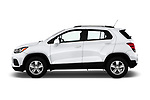 Car driver side profile view of a 2019 Chevrolet Trax LT 5 Door SUV
