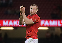 Wales' Hadleigh Parkes at the end of the game <br /> <br /> Photographer Ian Cook/CameraSport<br /> <br /> Under Armour Series Autumn Internationals - Wales v South Africa - Saturday 24th November 2018 - Principality Stadium - Cardiff<br /> <br /> World Copyright &copy; 2018 CameraSport. All rights reserved. 43 Linden Ave. Countesthorpe. Leicester. England. LE8 5PG - Tel: +44 (0) 116 277 4147 - admin@camerasport.com - www.camerasport.com