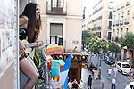 Isabel Penalba during the Festival de Musica Balconica-Musica Balconica Festival in Malasana street. June 29,2012. (ALTERPHOTOS/Alconada)
