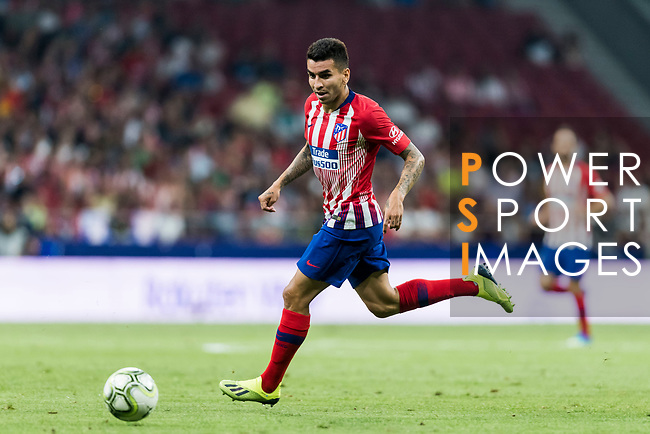 Angel Correa of Atletico de Madrid in action during their International Champions Cup Europe 2018 match between Atletico de Madrid and FC Internazionale at Wanda Metropolitano on 11 August 2018, in Madrid, Spain. Photo by Diego Souto / Power Sport Images