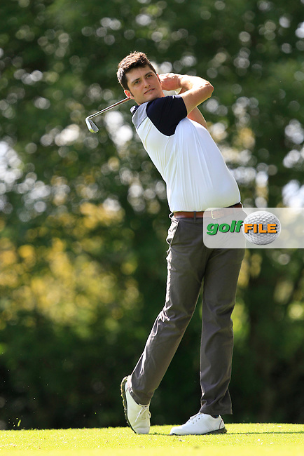 Shane McGlynn (Carton House) on the 8th tee during round 2 of The Mullingar Electrical Scratch Trophy in Mullingar Golf Club on Monday 4th August 2014.<br /> Picture:  Thos Caffrey / www.golffile.ie