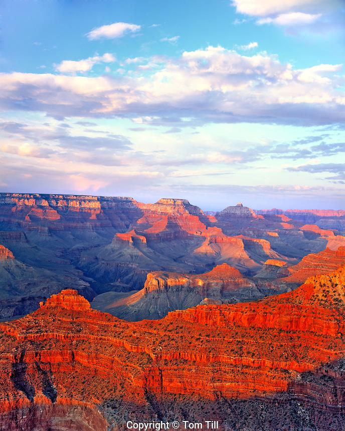 Evening Clouds at Mather Point, South Rim, Grand Canyon National Park, Arizona