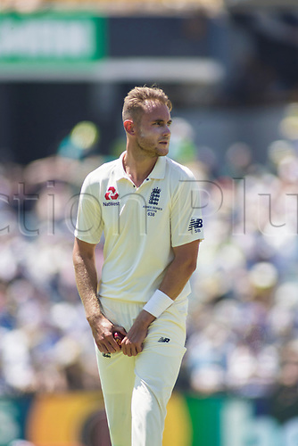 15th December 2017, The WACA, Perth, Australia; The Ashes Series, third test, day 2,  Australia versus England; England player Stuart Broad prepares to bowl