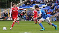 Fleetwood Town's Ashley Hunter lines up a shot<br /> <br /> Photographer David Shipman/CameraSport<br /> <br /> The EFL Sky Bet League One - Peterborough United v Fleetwood Town - Friday 14th April 2016 - ABAX Stadium  - Peterborough<br /> <br /> World Copyright &copy; 2017 CameraSport. All rights reserved. 43 Linden Ave. Countesthorpe. Leicester. England. LE8 5PG - Tel: +44 (0) 116 277 4147 - admin@camerasport.com - www.camerasport.com
