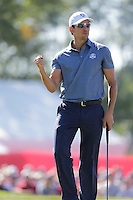 Raffa Cabrera-Bello (Team Europe) on the 6th green during the Friday afternoon Fourball at the Ryder Cup, Hazeltine national Golf Club, Chaska, Minnesota, USA.  30/09/2016<br /> Picture: Golffile | Fran Caffrey<br /> <br /> <br /> All photo usage must carry mandatory copyright credit (&copy; Golffile | Fran Caffrey)