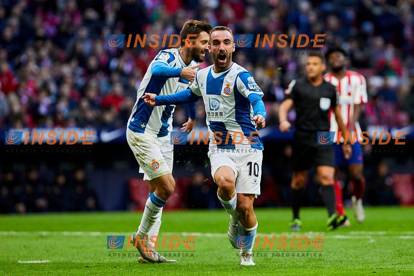 Sergi Darder of RCD Espanyol celebrates goal during La Liga match between Atletico de Madrid and RCD Espanyol at Wanda Metropolitano Stadium in Madrid, Spain. November 10, 2019. (ALTERPHOTOS/A. Perez Meca)<br /> Liga Spagna 2019/2020 <br /> Atletico Madrid - Espanyol <br /> Photo Alterphotos / Insidefoto <br /> ITALY ONLY