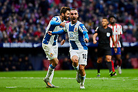 Sergi Darder of RCD Espanyol celebrates goal during La Liga match between Atletico de Madrid and RCD Espanyol at Wanda Metropolitano Stadium in Madrid, Spain. November 10, 2019. (ALTERPHOTOS/A. Perez Meca)<br /> Liga Spagna 2019/2020 <br /> Atletico Madrid - Espanyol <br /> Photo Alterphotos / Insidefoto <br /> ITALY ONLY