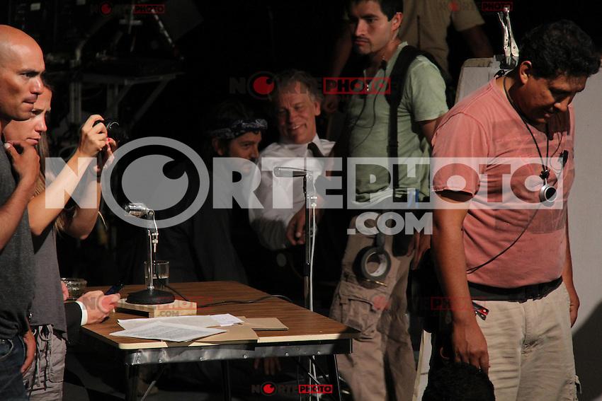 En el Set del rodaje de la película ¨César Chávez Fight in the Field¨ dirigida por Diego Luna llevada acabo en el Auditorio Civico de la Ciudad..*Hermosillo*Sonora*.*4*Junio*2012*..(**Photo:©*Tirador*Cuarto*/NortePhoto.com**)