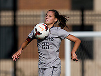 Kailey Blain (25) of Georgetown controls the ball during the game at Shaw Field on the campus of Georgetown University in Washington, DC.  Georgetown tied DePaul, 1-1, in double overtime.