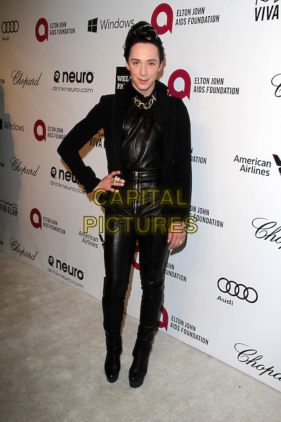 WEST HOLLYWOOD, CA - March 02: Johnny Weir at the 22nd Annual Elton John AIDS Foundation Oscar Viewing Party, Private Location, West Hollywood,  March 02, 2014.  <br /> CAP/MPI/JO<br /> &copy;Janice Ogata/MediaPunch/Capital Pictures