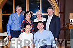 Karen O'Connor Ballyhar and Michael Finnegan Muckross celebrate their engagement with their parents l-r: Patrick and Noreen O'Connor, Denis and Anne Finnegan