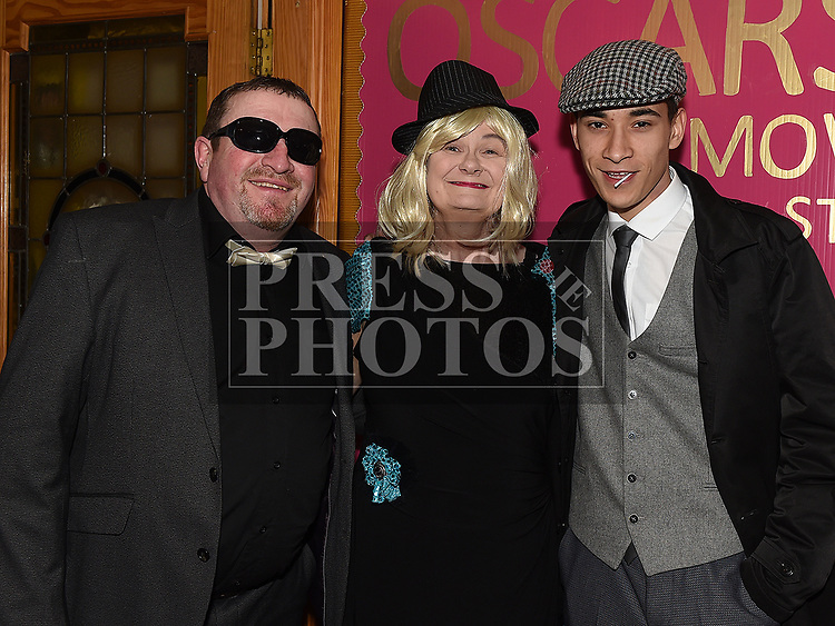 David, Ross and Mary Fitzsimons at the Oscars fancy dress party in Watters of Collonin aid of the Gary Kelly Cancer Support Centre.  Photo:Colin Bell/pressphotos.ie