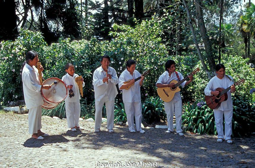 Traditional Ecuadorean musical group performing in Ecuador, South America