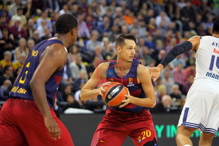 Turkish Airlines Euroleague 2016/2017.<br /> Regular Season - Round 8.<br /> FC Barcelona Lassa vs R. Madrid: 63-102.<br /> Marcus Eriksson.