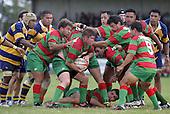 G. Henson takes the ball into a maul. Counties Manukau Premier Club Rugby, Waiuku vs Patumahoe played at Rugby Park, Waiuku on the 8th of April 2006. Waiuku won 18 - 15