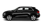 Car Driver side profile view of a 2019 Audi Q3 Advanced 5 Door SUV Side View