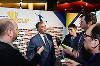 Santa Clara, CA - Tuesday, March 07, 2017: Bruce Arena during the unveiling of the CONCACAF 2017 Gold Cup Groups & Schedule at Levi's Stadium.