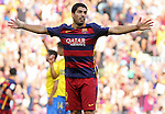 26.09.2015 Barcelona. La Liga day 6. Picture show Luis Suarez in action during game between FC Barcelona against Las Palmas at Camp Nou.