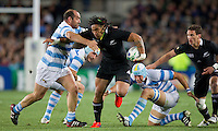 Rugby World Cup Auckland  New Zealand v Argentina Quarter Final 4 - 09/10/2011.Ma'a Nonu  (New Zealand)  .Photo Frey Fotosports International/AMN Images
