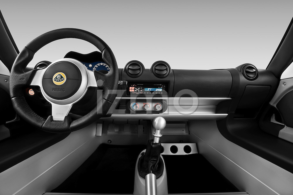 Straight dashboard view of a 2009 Lotus Exige S 2 Door Coupe.